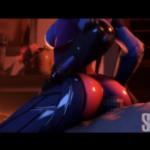 【3Dエロアニメ】オーバーウォッチのウィドウメイカーの極上尻コキ!!様々な女性たちのエロい姿が見れるオムニバス